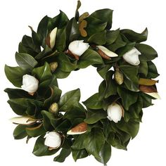Magnolia Bud Wreath from Joss and Main - every respectable Southern Home should show off Magnolias in some way.