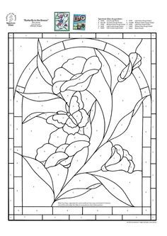 Stained Glass Spectrum Pattern: