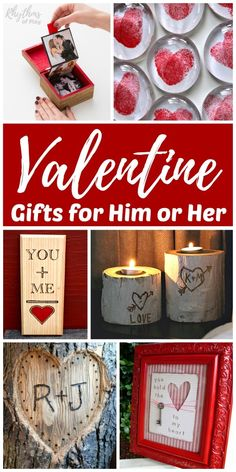 Valentine Gifts for Him or Her - Handmade DIY presents are always a hit with loved ones. These unique romantic keepsake gift ideas for men and women are perfect for Valentine's Day Christmas weddings an anniversary or birthday and other special occasions. Funny Valentine, Diy Valentines Gifts For Him, Handmade Valentine Gifts, Best Valentine Gift, Easy Handmade Gifts, Diy Gifts For Him, Homemade Valentines, Unique Gifts For Him, Valentines