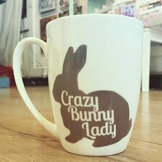 Crazy Bunny Lady Bone China Mug
