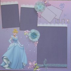 cinderella scrapbook layout