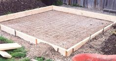 Pouring a concrete pad is one of the best things you can do in order to ensure the strength of a shed. It will prevent it from shifting, sinking, or even moving from its base. The whole process was not overly complicated, and can be completed in a few steps: