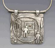 Intriguingly unique pendant by Hadar Jacobson.
