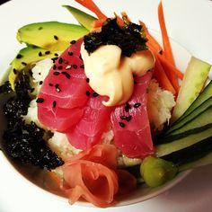 Sushi Bowl w/ Cauliflower Rice - It's gluten and grain free!