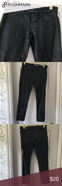 """J brand grey skinny wax coated jeans J brand skinny wax coated jeans in grey.                                 25 1/2"""" inseam, 8"""" rise, lay flat waist 16"""". Great condition. Bundle and save 10% or more! J Brand Jeans Skinny"""