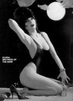 """""""Elvira, Mistress of the Dark 1988 American comedy horror film directed by James Signorelli. Horror Show, Horror Movies, Horror Film, Horror Art, Elvira Movies, Moving To Las Vegas, Cassandra Peterson, Human Doll, Slasher Movies"""
