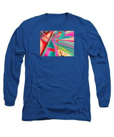 Colorful Long Sleeve T-Shirt featuring the digital art Intersection by Expressionistartstudio Priscilla-Batzell