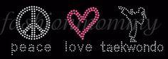 Peace Love Taekwondo Girl customize 1 by FashionMommyBoutique, $13.00