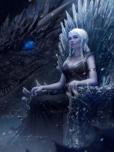 Mother of dragons daenerys targaryen: got fan art (digital art by zarory) Dessin Game Of Thrones, Game Of Thrones Artwork, Fantasy Queen, Fantasy Art, Anime Fantasy, Girls Characters, Fantasy Characters, Character Inspiration, Character Art