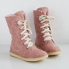 02fc5808d2d Winter Fall Flat Heel Casual Plus Size Lace Up Women Boots – lalasgal   snowboots · Fashion ...
