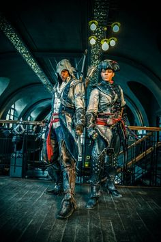 The Ultimate Connor And Aveline Assassin's Creed III Cosplay .... the amount of work these people put into this stuff is amazing