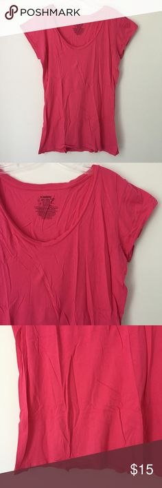 """BASIC BRIGHT HOT SEXY CUTE PINK SOFT TEE SHIRT TOP Brand new 