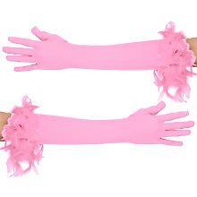 Handschuhe Glamour lang, rosa