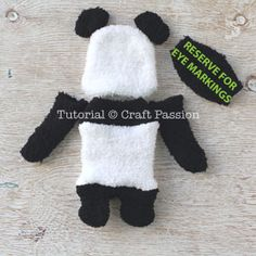 Sew a set of twin sock panda PaiPai & PeiPei with pair of white & black chenille microfiber socks. Free pattern with steps photo and printable template. – Page 2 of 2 Panda Stuffed Animal, Sewing Stuffed Animals, Stuffed Animal Patterns, Sock Snowman Craft, Sock Crafts, Sock Monkey Pattern, Panda Craft, Sewing Patterns Free, Free Sewing