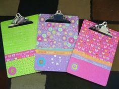 beautiful clip boards