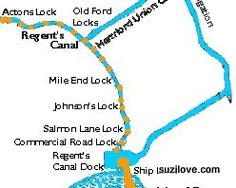 Regent's Canal Map.  Via Museum of London  ©SuziLove