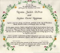 Image result for quaker marriage certificate