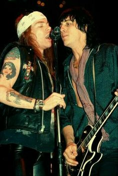 Axl Rose and Izzy Stradllin
