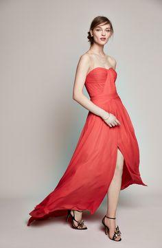 Aidan by Aidan Mattox Strapless Chiffon Gown