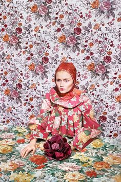 Ukranian designer Masha Reva is an artist, using fashion as her present medium. This recent collection Merging, is an homage to overkill, pattern on pattern, nature vs nurture.