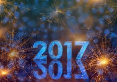 #Happy New Year 2017 Happy New Year 2017 with bokeh and light stars