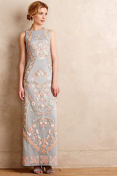 Royal Garden Maxi Dress - anthropologie.com