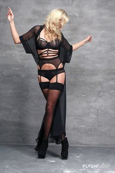 Black Tulle Bondage Underwire Bra  Sexy Sheer See by flashyouandme