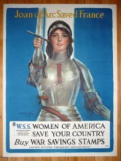 Joan of Arc Saved France c. 1917 by Haskell Coffin
