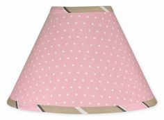 Sweet Jojo Designs Lamp Shade  Pink and Brown Modern Polka Dots ** Continue to the product at the image link. (This is an affiliate link and I receive a commission for the sales)