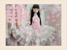 2ca49260ce Kawaii DIY - How to Make A Sweet Lolita Skirt (no elastic band and zipper