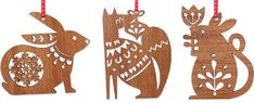Laser Cut Ornaments by Candy Stripe Cloud (little-white-whale.com)