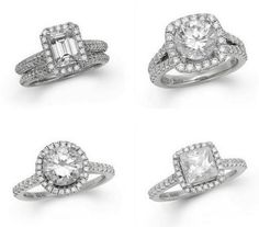 I hope my ring is just as big as the one in the top right corner haha. Vera Wang's Wedding rings