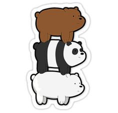 We Bare Bears by coinho Stickers Cool, Stickers Kawaii, Cartoon Stickers, Tumblr Stickers, Printable Stickers, Laptop Stickers, Planner Stickers, We Bare Bears, Bear Wallpaper