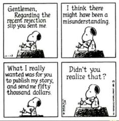 #Peanuts #Schulz #Snoopy Publisher misunderstanding.
