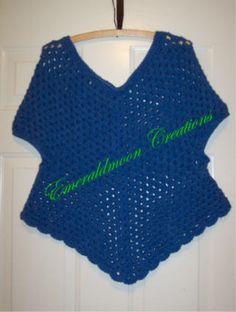 Adult version of the Stay on Poncho  free pattern