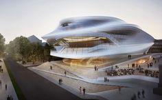 Tecnoneo: Diseño propuesto por Zaha Hadid para la sala de conciertos Festspielhaus Beethoven de Bonn