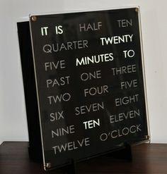 30cm Word Clock by DougsWordClock