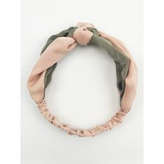 Choies Pink Color Block Knot Front Headband ($8.99) ❤ liked on Polyvore featuring accessories, hair accessories, pink, pink hair accessories, head wrap hair accessories, headband hair accessories, hair band headband and head wrap headbands