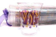 """Tigers"" disposable clear cups — Party Cup Express"