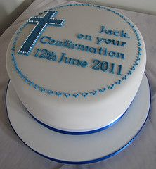 Confirmation cake for a boy. Simple and not too frilly.