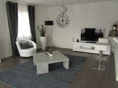 deco salon blanc et gris - Decoration Salon Moderne Taupe