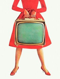 Vintage Retro Style A portable TV so you could watch shows almost anywhere. Easy to carry the handle made it so darn fun. (a little before my time, but still) - Digital Collage, Collage Art, Collages, To Do App, Vintage Television, Foto Art, Vintage Tv, Design Graphique, Arte Pop