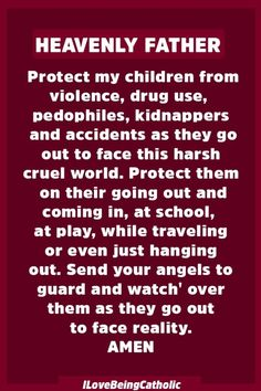 Protect Your Children From Evil with this Powerful Prayer - CatholicShare Prayer Scriptures, Bible Prayers, God Prayer, Power Of Prayer, Prayer Quotes, Prayer Room, Catholic Prayers, Faith Prayer, Bible Verses