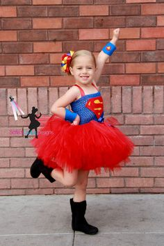 Super girl superhero over the top bow by SofiasCoutureDesigns