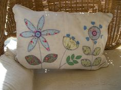 Small applique cushion by JuliaOlive on Etsy, $56.00