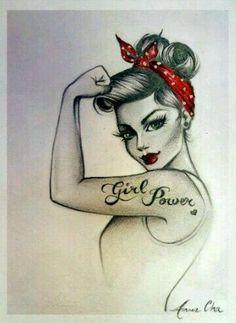 "Inspiration tattoo ""Girl Power"" bow!♡"
