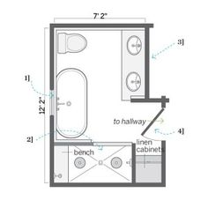 Bathroom Layout For 8X10 8 x 12 foot master bathroom floor plans walk in shower - possible