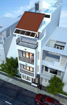 Công ty xây dựng Thanh Niên giới thiệu mẫuThiết kế xây nhà phố 3,5 tầng 4,5x15m hiện đại. Mặt tiền của ngôi nhà phố 3,5 tầng mặt tiền 4,5m ...