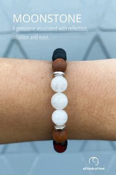 Linked to the power held by the Moon, the Moonstone gem helps us open up the heart chakra, allowing us to be more receptive and in touch with our inner feelings. Allergy Free, Heart Chakra, Allergies, Beaded Bracelets, Moon, Touch, Gemstones, Feelings, Handmade