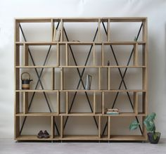 KONK Modular Oak Bookcase shelving INDUSTRIAL от KONKfurniture